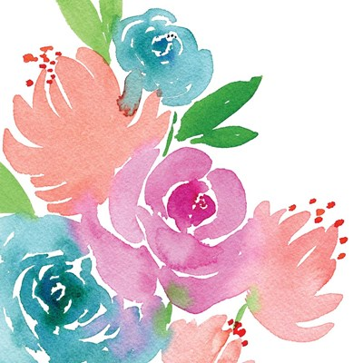 Floral Square I art print by Elise Engh for $45.00 CAD