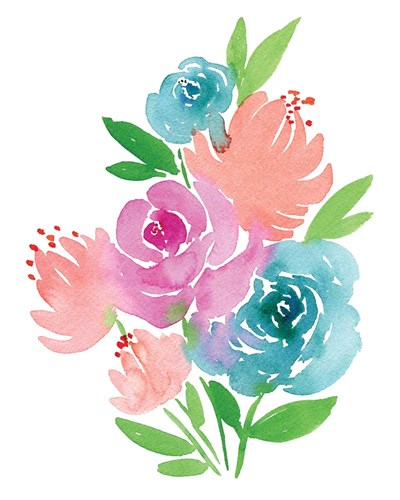 Fresh Watercolor Floral I art print by Elise Engh for $40.00 CAD