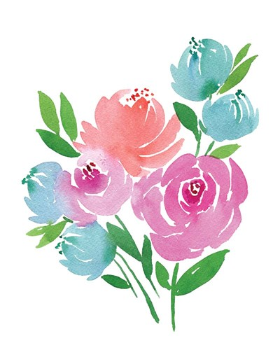 Fresh Watercolor Floral II art print by Elise Engh for $40.00 CAD
