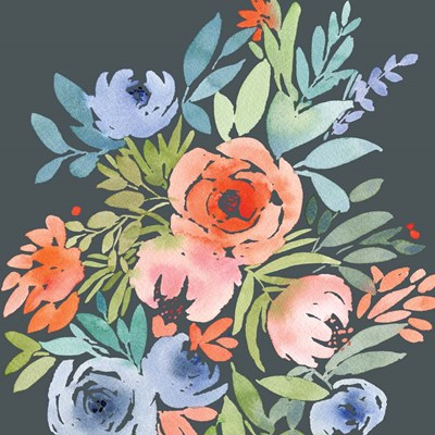 Wild Floral Square I art print by Elise Engh for $45.00 CAD