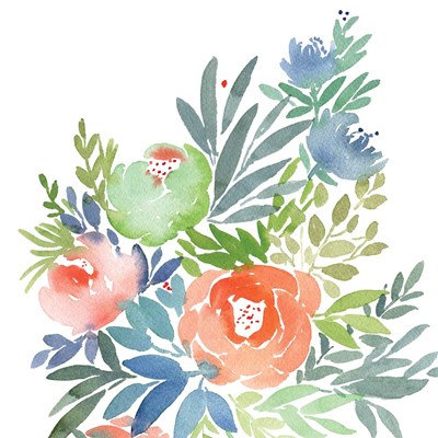 Wild Floral Square II art print by Elise Engh for $45.00 CAD