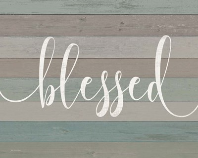 Rustic Blessed Script art print by Jo Moulton for $56.25 CAD