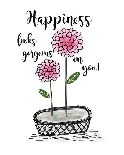 Happiness art print by Jo Moulton for $40.00 CAD