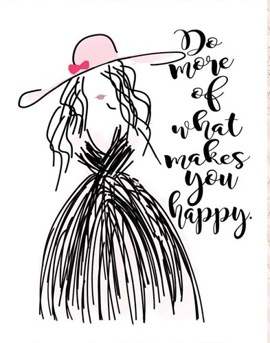 Happy art print by Jo Moulton for $40.00 CAD