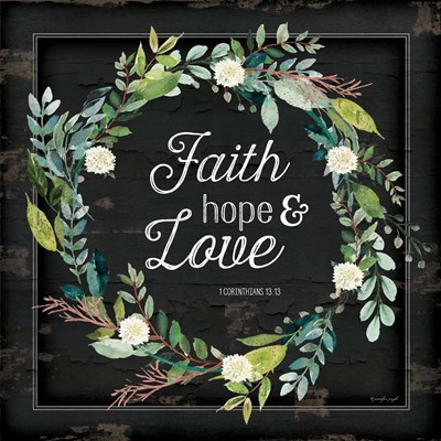 Faith, Hope and Love art print by Jennifer Pugh for $56.25 CAD