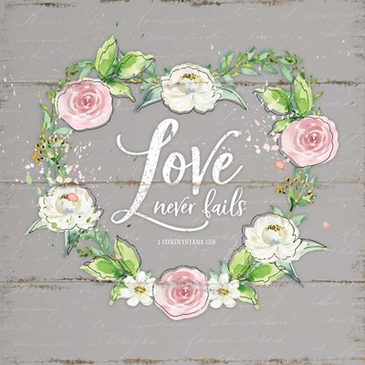Love Wreath - Gray art print by Jennifer Pugh for $56.25 CAD