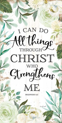 I Can Do All Things Through Christ II art print by Jennifer Pugh for $52.50 CAD