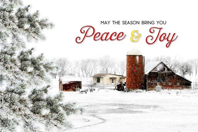 Peace and Joy Barn art print by Jennifer Pugh for $43.75 CAD