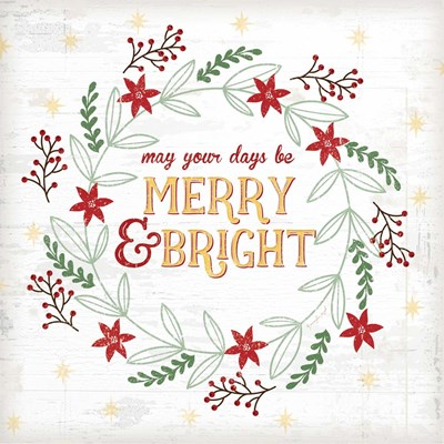 Merry and Bright art print by Jennifer Pugh for $56.25 CAD