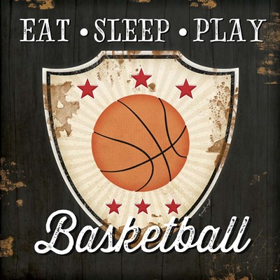 Eat, Sleep, Play, Basketball art print by Jennifer Pugh for $56.25 CAD