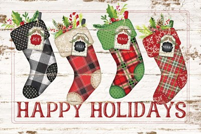 Happy Stockings art print by Jennifer Pugh for $43.75 CAD