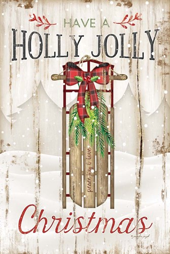 Holly Jolly art print by Jennifer Pugh for $43.75 CAD