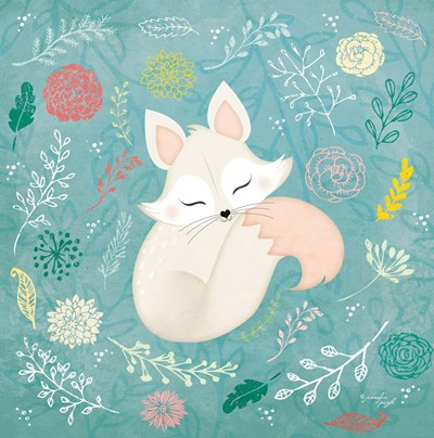 Woodland Fox art print by Jennifer Pugh for $35.00 CAD