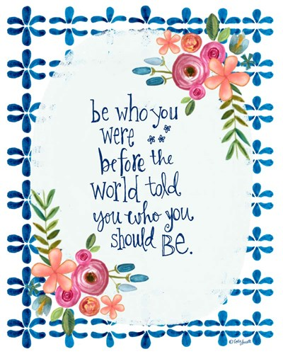 Be Who You Were art print by Katie Doucette for $40.00 CAD