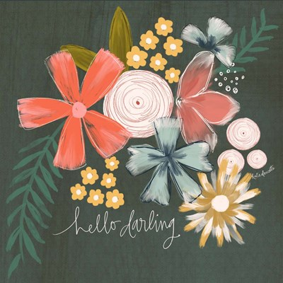 Hello Darling art print by Katie Doucette for $48.75 CAD