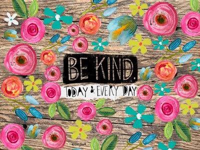 Be Kind Wood Background art print by Katie Doucette for $41.25 CAD