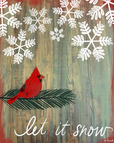 Let It Snow Cardinal art print by Katie Doucette for $40.00 CAD