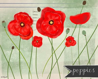 Poppies art print by Katie Doucette for $42.50 CAD