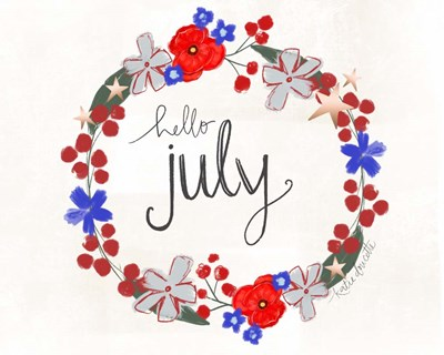Hello July art print by Katie Doucette for $42.50 CAD