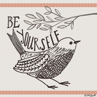 Be Yourself art print by Katie Doucette for $48.75 CAD