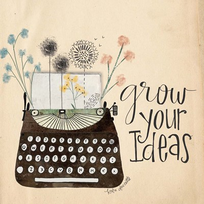 Grow Your Ideas art print by Katie Doucette for $48.75 CAD