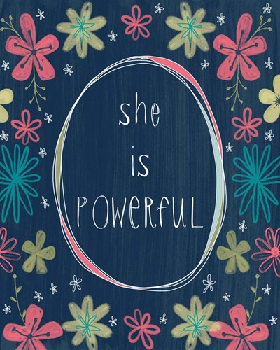 She is Powerful art print by Katie Doucette for $40.00 CAD