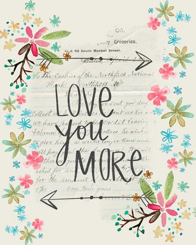 Love You More art print by Katie Doucette for $40.00 CAD