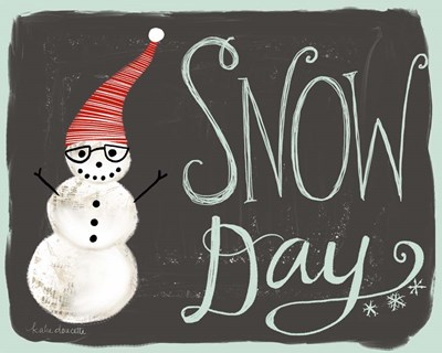 Snow Day Snowman art print by Katie Doucette for $42.50 CAD
