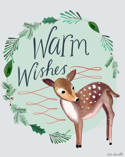 Warm Wishes Fawn art print by Katie Doucette for $40.00 CAD