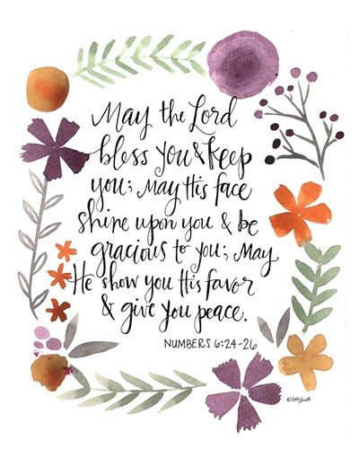 Numbers Prayer art print by Katie Doucette for $40.00 CAD