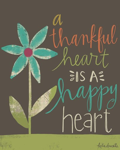 Thankful Happy Heart art print by Katie Doucette for $40.00 CAD
