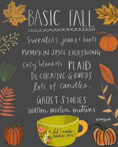 Basic Fall art print by Katie Doucette for $40.00 CAD