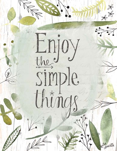 Simple Things II art print by Katie Doucette for $40.00 CAD