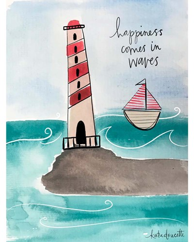 Happiness Comes in Waves art print by Katie Doucette for $40.00 CAD