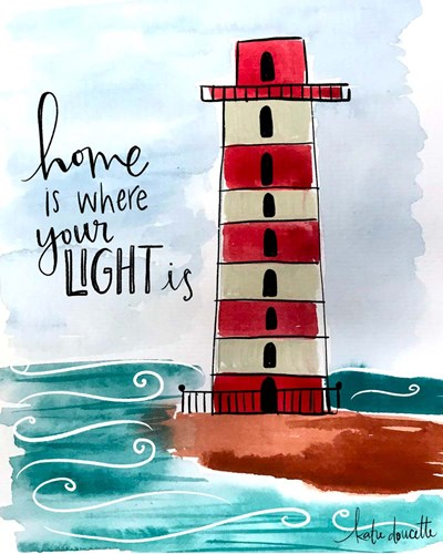 Home is Where Your Light Is art print by Katie Doucette for $40.00 CAD