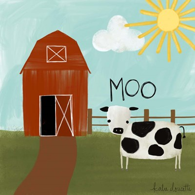 Moo art print by Katie Doucette for $48.75 CAD