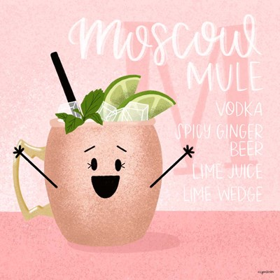 Moscow Mule art print by Kyra Brown for $48.75 CAD