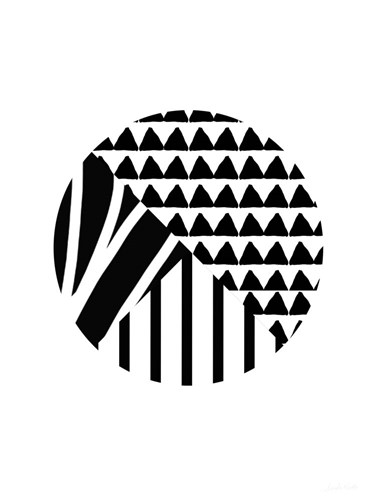 Black and White Pattern Ball art print by Linda Woods for $28.75 CAD