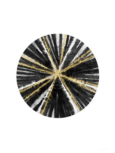 Black, White, and Gold Ball art print by Linda Woods for $28.75 CAD