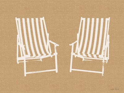 Beach Chairs art print by Linda Woods for $41.25 CAD