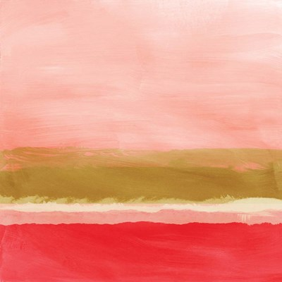 Coral and Gold Landscape II art print by Linda Woods for $48.75 CAD