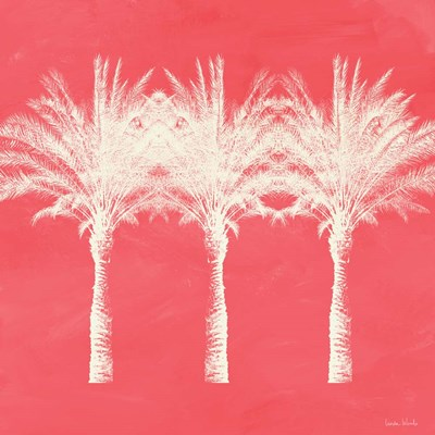 Coral and Ivory Palm Trees art print by Linda Woods for $48.75 CAD