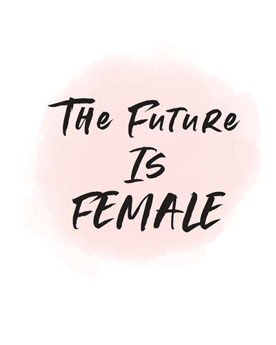 The Future is Female art print by Linda Woods for $40.00 CAD