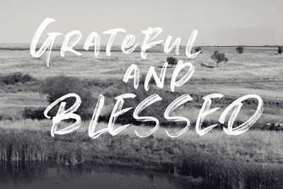 Grateful and Blessed art print by Linda Woods for $43.75 CAD