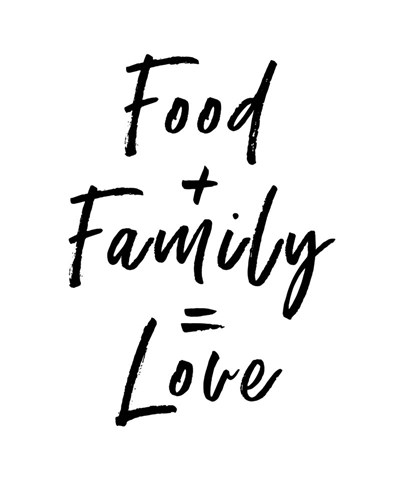 Food Family Love art print by Linda Woods for $40.00 CAD