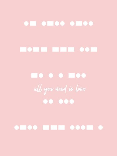 All You Need is Love - Pink art print by Linda Woods for $41.25 CAD