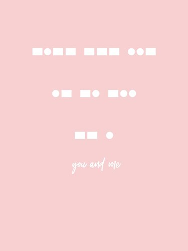 You and Me - Pink art print by Linda Woods for $41.25 CAD