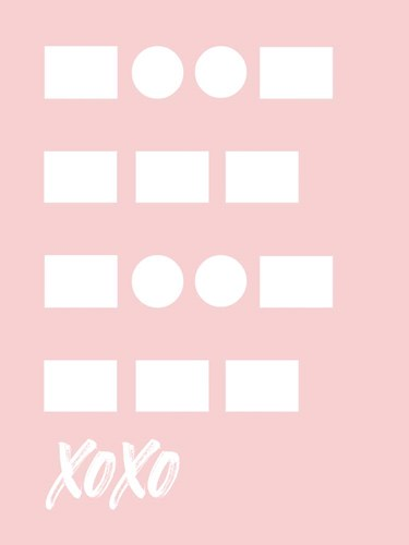 XOXO - Pink art print by Linda Woods for $41.25 CAD