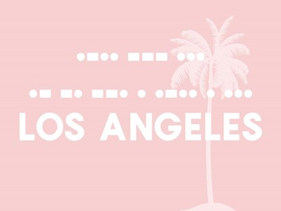 Los Angels - Pink Palm art print by Linda Woods for $41.25 CAD