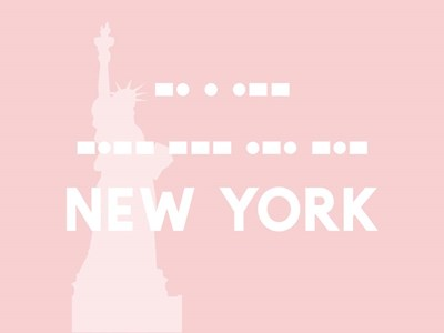 New York - Pink Liberty art print by Linda Woods for $41.25 CAD